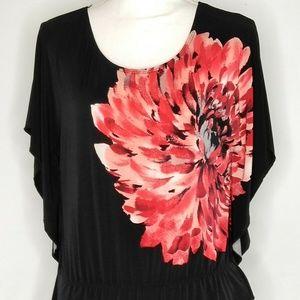 BCX Womens Top Blouse Shirt Butterfly Size M
